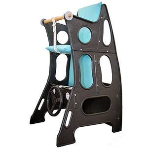 Black Turquoise Highchair Upright