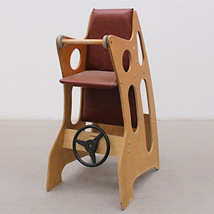 Old wooden Hokus Pokus highchair