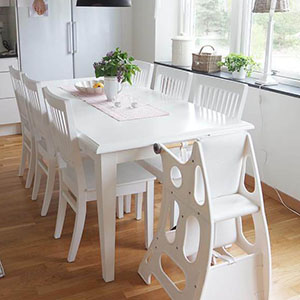 White hokus pokus high chair in Dining Room